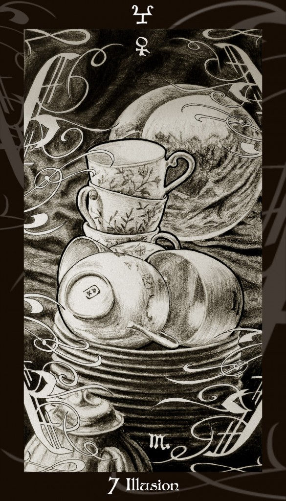 Lá Seven of Cups trong bộ Harry Potter Tarot