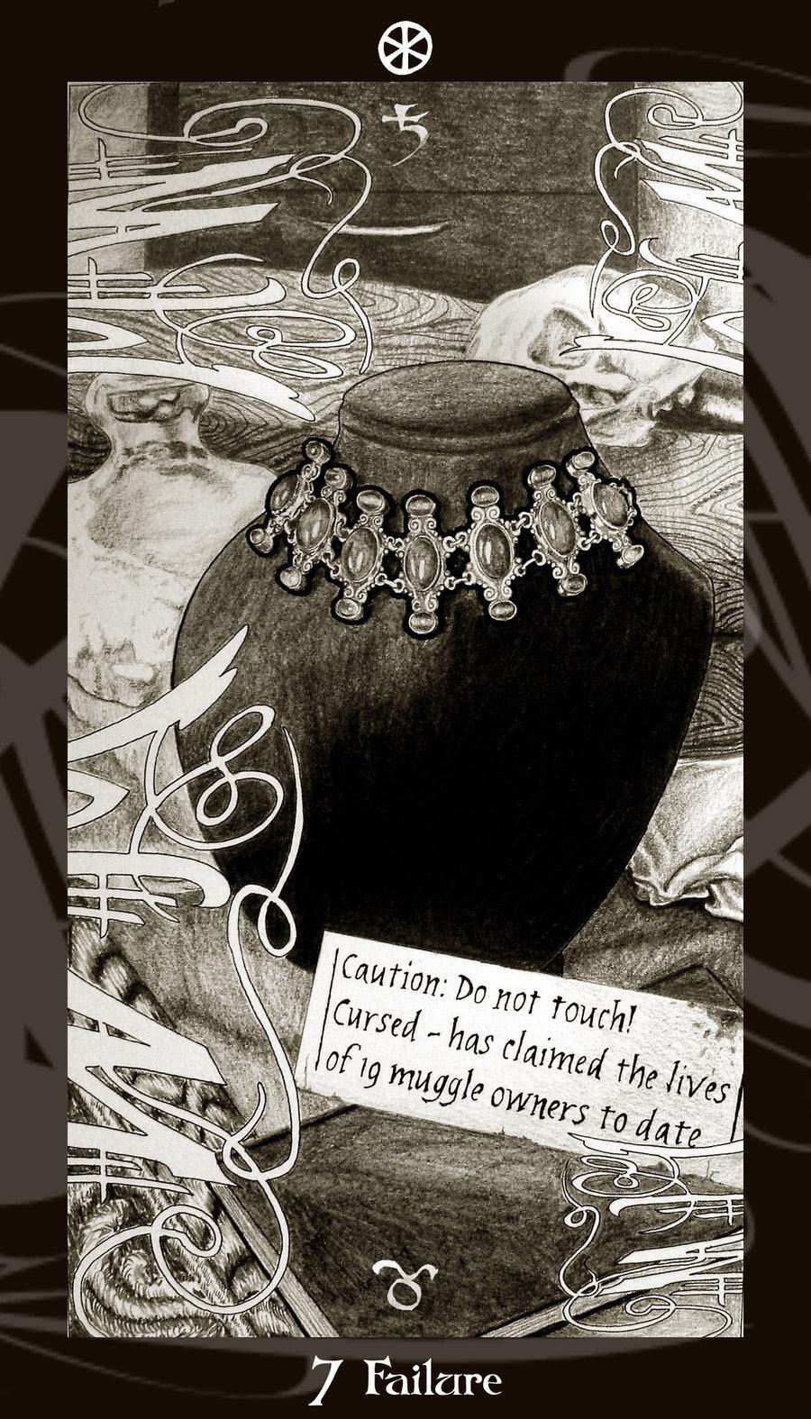 Lá Seven of Disks trong bộ Harry Potter Tarot