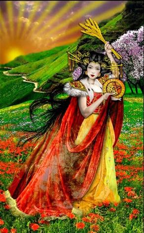 Lá Princess of Pentacles – Tarot Illuminati