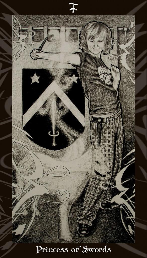 Lá Princess of Swords trong bộ Harry Potter Tarot