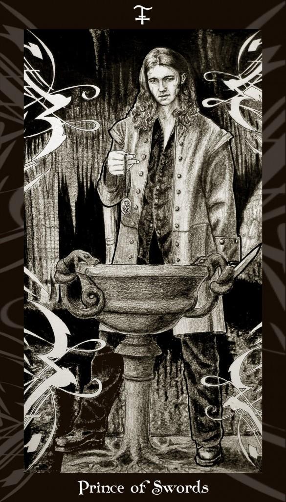 Lá Prince of Swords trong bộ Harry Potter Tarot