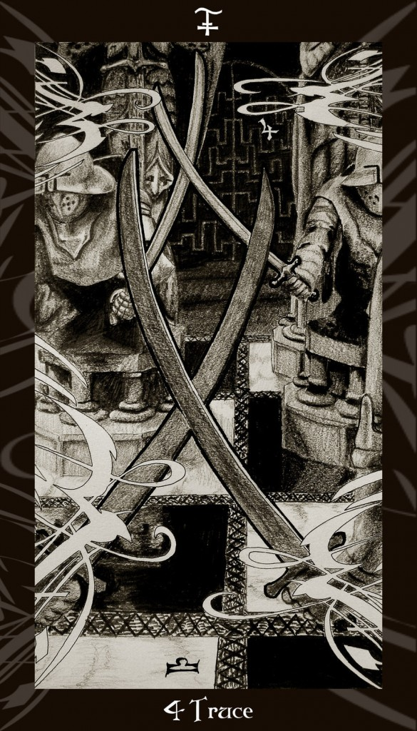 Lá Six of Swords trong bộ Harry Potter Tarot