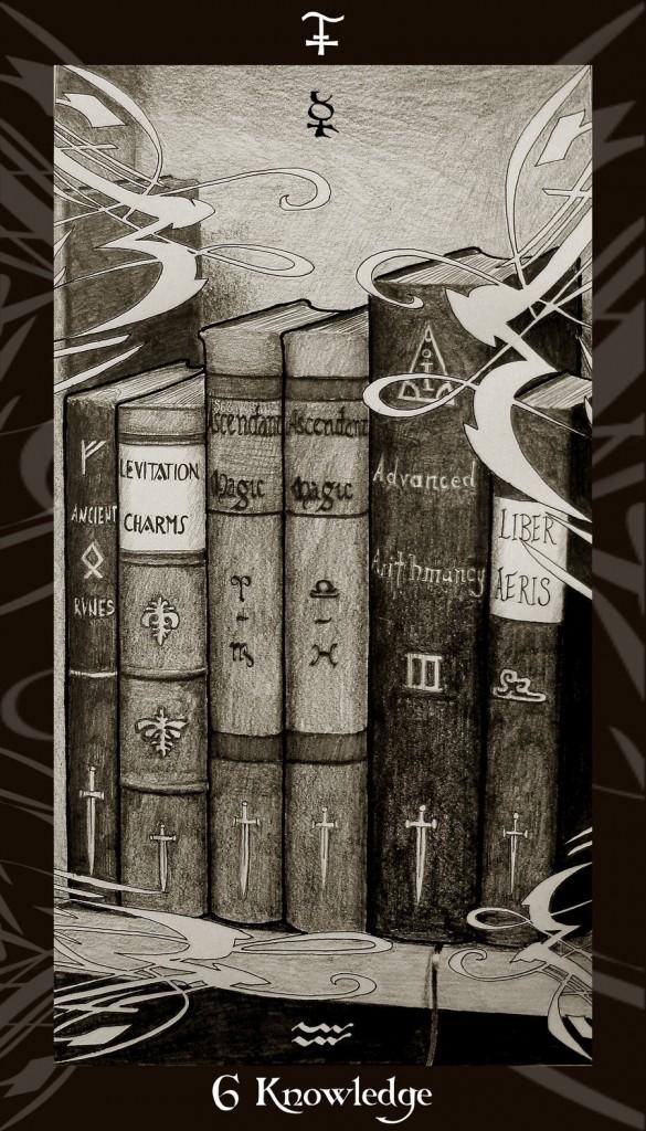 Lá Six of Swords trong bộ Harry Potter Tarot