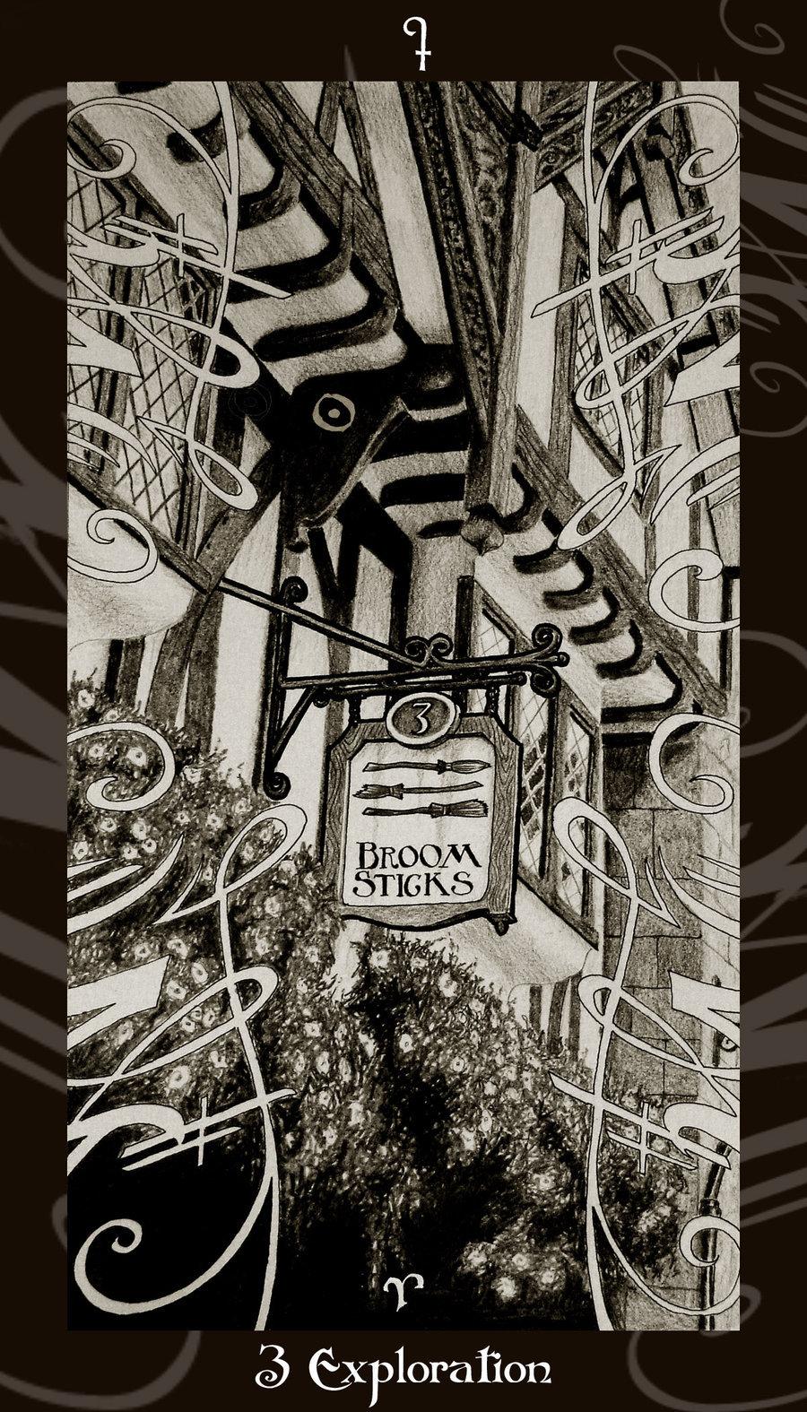 Lá Three of Wands – Harry Potter Tarot