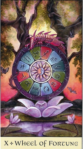 Lá X. Wheel of Fortune – Crystal Visions Tarot