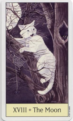 Lá XVIII. The Moon - Cat's Eye Tarot 2