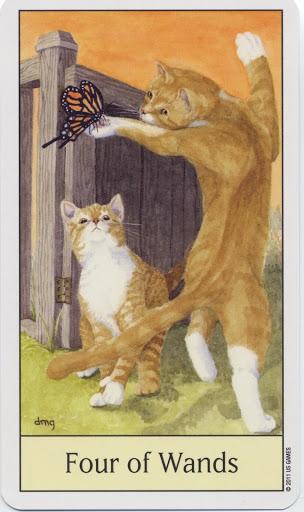 Lá Four of Wands - Cat's Eye Tarot