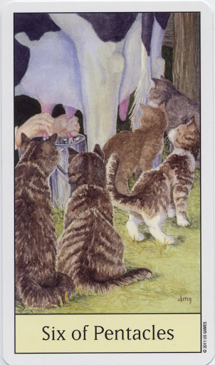 Lá Six of Pentacles – Cat's Eye Tarot