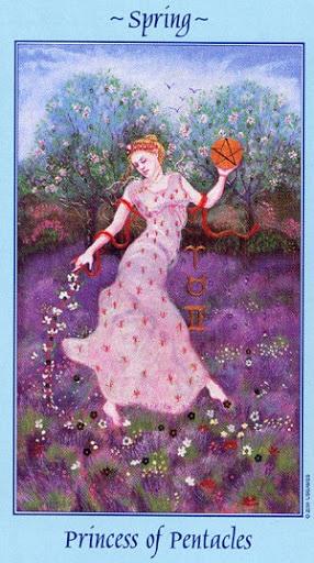 Lá Princess of Pentacles – Celestial Tarot