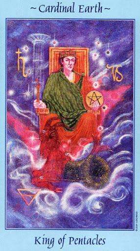 Lá King of Pentacles – Celestial Tarot