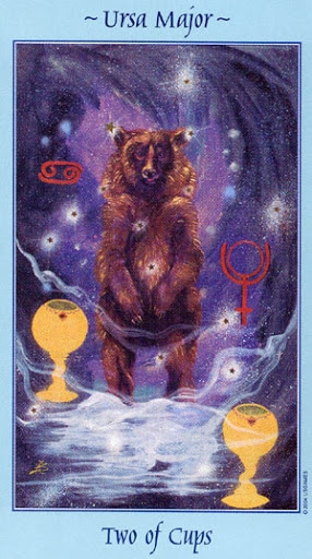 Lá Two of Cups - Celestial Tarot