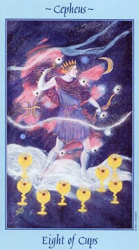 Lá Eight of Cups - Celestial Tarot