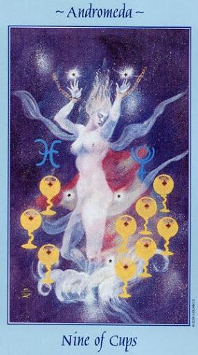 Lá Nine of Cups - Celestial Tarot