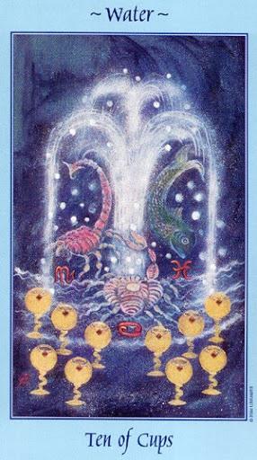 Lá Ten of Cups - Celestial Tarot