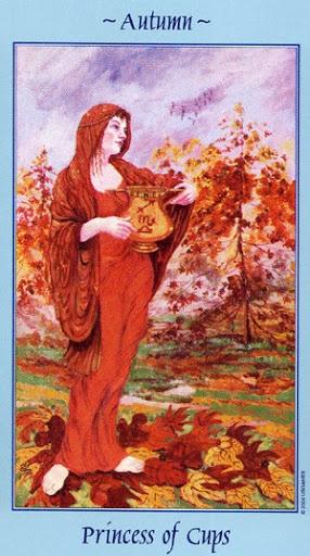 Lá Princess of Cups - Celestial Tarot