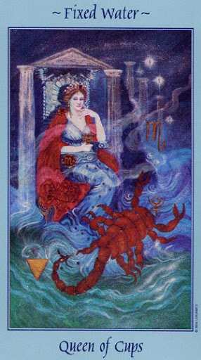 Lá Queen of Cups – Celestial Tarot