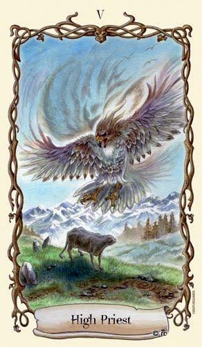 Lá V. The Hierophant – Fantastical Creatures Tarot