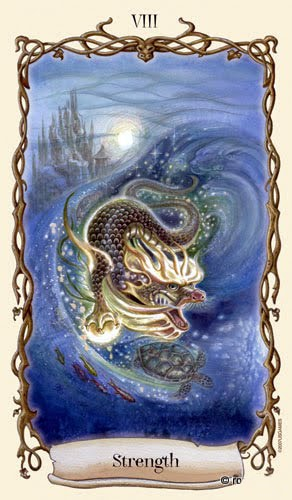 Lá VIII. Strength - Fantastical Creatures Tarot