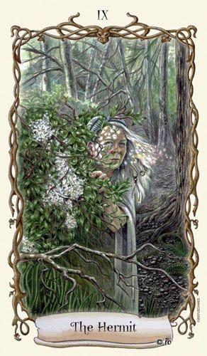 Lá IX. The Hermit - Fantastical Creatures Tarot