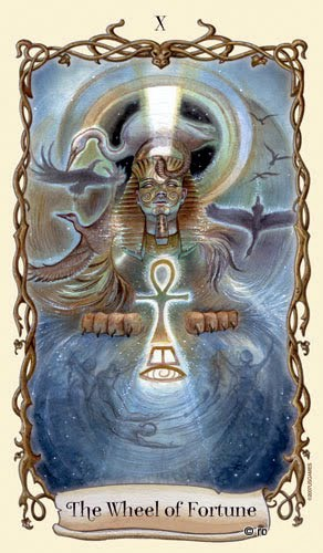 Lá X. The Wheel of Fortune - Fantastical Creatures Tarot