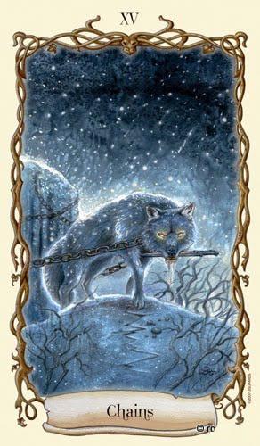 Lá XV. Chains - Fantastical Creatures Tarot