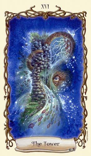 Lá XVI. The Tower - Fantastical Creatures Tarot