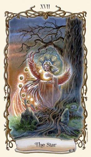 Lá XVII. The Star - Fantastical Creatures Tarot