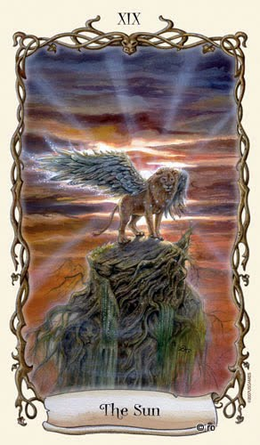Lá XIX. The Sun - Fantastical Creatures Tarot