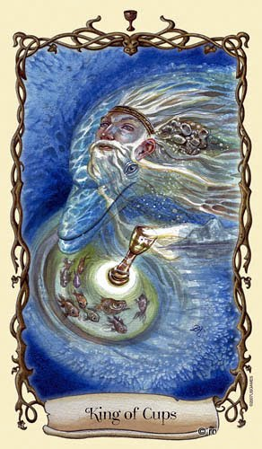 Lá King of Cups - Fantastical Creatures Tarot