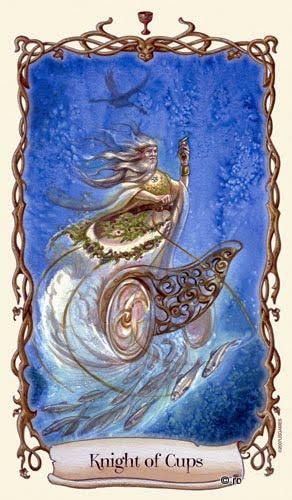 Lá Knight of Cups - Fantastical Creatures Tarot