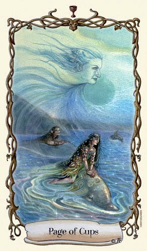 Lá Page of Cups - Fantastical Creatures Tarot