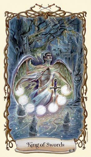 Lá King of Swords - Fantastical Creatures Tarot