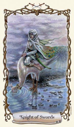 Lá Knight of Swords - Fantastical Creatures Tarot