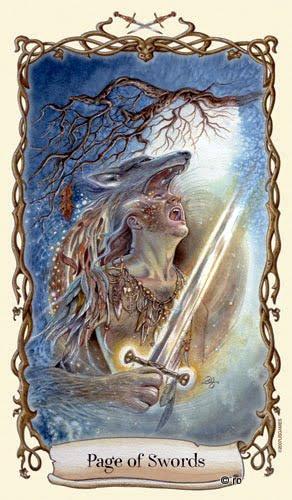 Lá Page of Swords - Fantastical Creatures Tarot