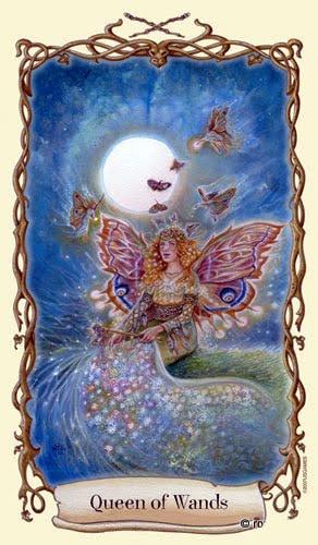Lá Queen of Wands - Fantastical Creatures Tarot