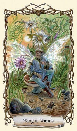 Lá King of Wands - Fantastical Creatures Tarot