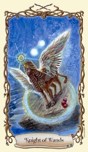 Lá Knight of Wands - Fantastical Creatures Tarot