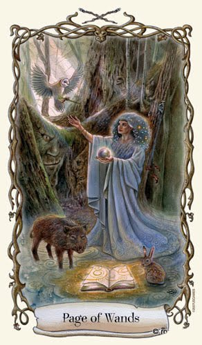 Lá Page of Wands - Fantastical Creatures Tarot