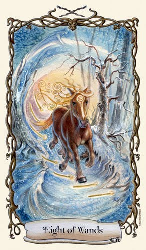 Lá Eight of Wands - Fantastical Creatures Tarot