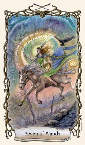 Lá Seven of Wands - Fantastical Creatures Tarot