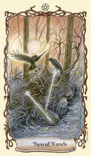 Lá Two of Wands - Fantastical Creatures Tarot
