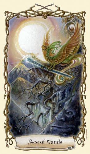 Lá Ace of Wands - Fantastical Creatures Tarot