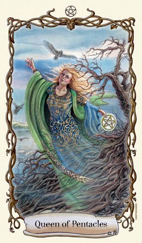 Lá Queen of Pentacles - Fantastical Creatures Tarot