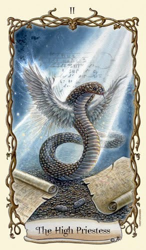 Lá II. The High Priestess – Fantastical Creatures Tarot