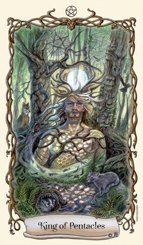 Lá King of Pentacles - Fantastical Creatures Tarot