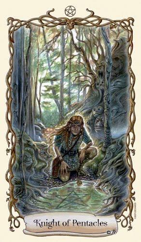 Lá Knight of Pentacles - Fantastical Creatures Tarot