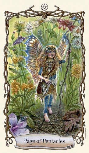 Lá Page of Pentacles - Fantastical Creatures Tarot