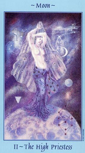 Lá II. The High Priestess - Celestial Tarot