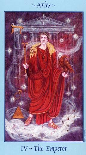 Lá IV. The Emperor - Celestial Tarot