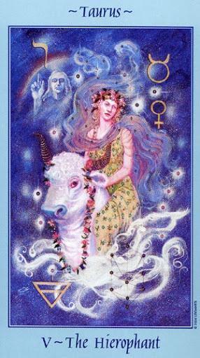 Lá V. The Hierophant - Celestial Tarot 2